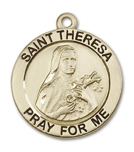 14kt Gold St. Theresa Medal | Windows of Heaven Catholic Gifts | windowsofheavenco.com