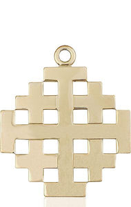 Windows of Heaven Catholic Gifts | windowsofheavenco.com | 14kt Gold Jerusalem Cross Medal