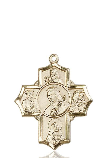 Windows of Heaven Catholic Gifts | windowsofheavenco.com | 14kt Gold Philomena/Ther/Rita/Ant/Jude Medal
