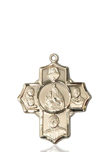 Windows of Heaven Catholic Gifts | windowsofheavenco.com | 14kt Gold Polish 4-Way Medal