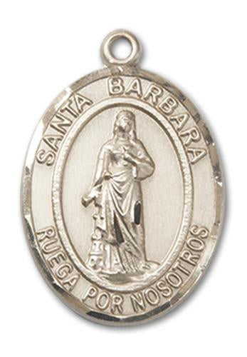 Windows of Heaven Catholic Gifts | windowsofheavenco.com | 14kt Gold Santa Barbara Medal with Medal Only