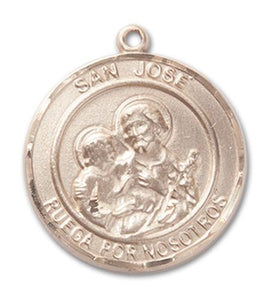 Windows of Heaven Catholic Gifts | windowsofheavenco.com | 14kt Gold San Jose Medal with Medal Only