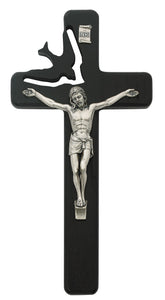 8in Black Holy Sprit Crucifix Boxed