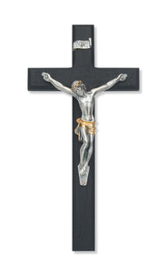 10 in. Black Crucifix Boxed