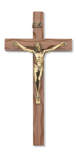 10 in. Walnut Stain Crucifix Boxed