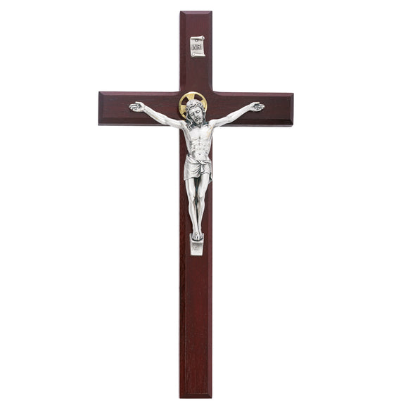 12 in. Cherry Crucifix Boxed