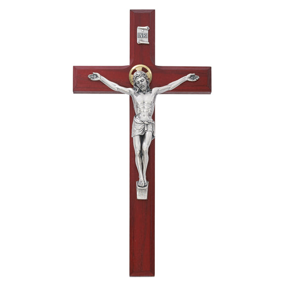 8 in. Cherry Crucifix Boxed