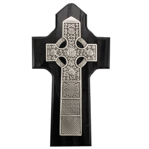 8in Black Celtic Cross Boxed