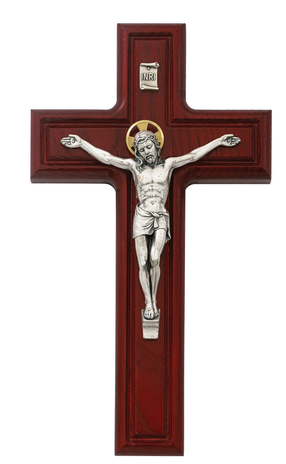 10 in. Cherry Crucifix Boxed
