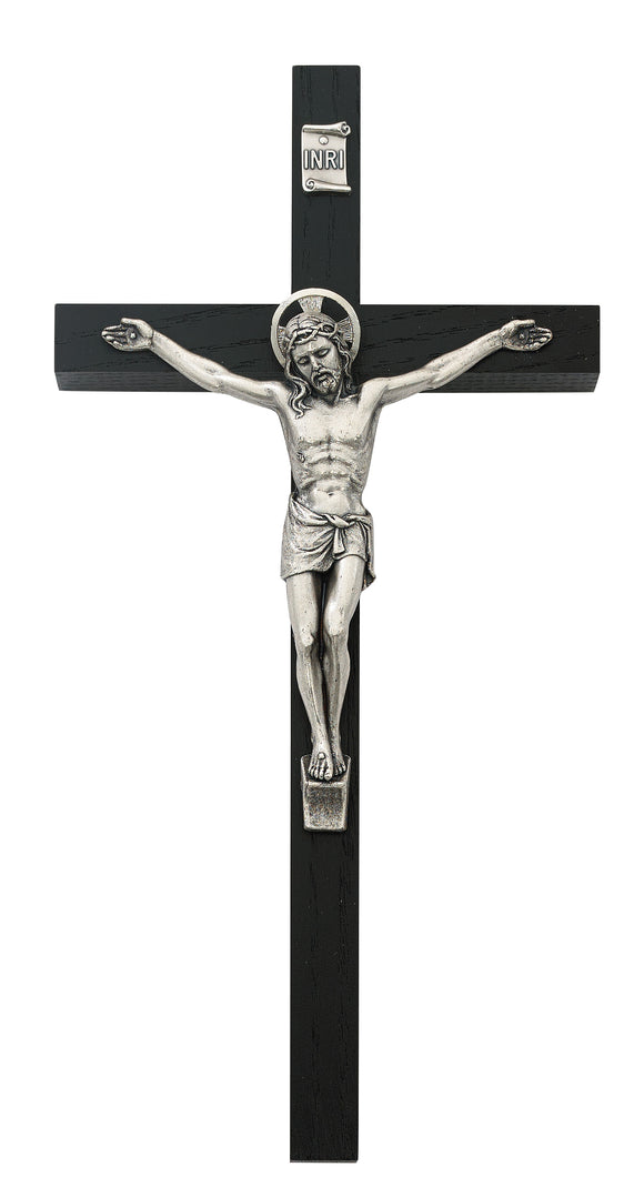 8 in. Black Crucifix Boxed