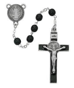 Black St. Benedict Rosary Boxed
