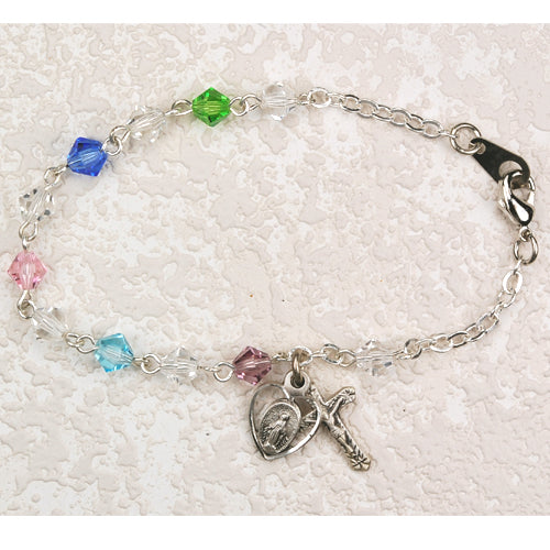 6.5in Multi Crystal Bracelet Boxed