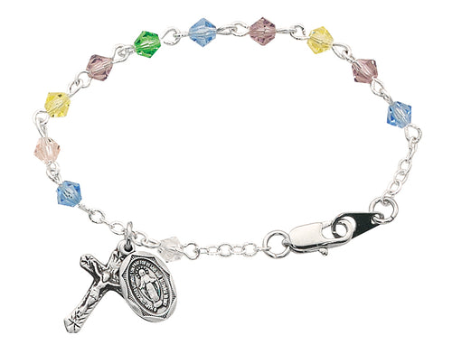 5 12in Multi Crystal Baby Bracelet