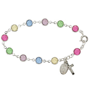 7.5in Multi Crystal Bracelet Boxed