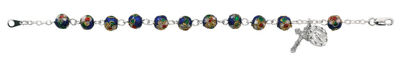 7.5in Blue Cloisonné Bracelet Boxed