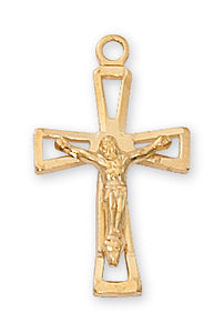Gold over Sterling Crucifix Pendant