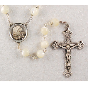 Genuine Mother of Pearl Rosary Boxed