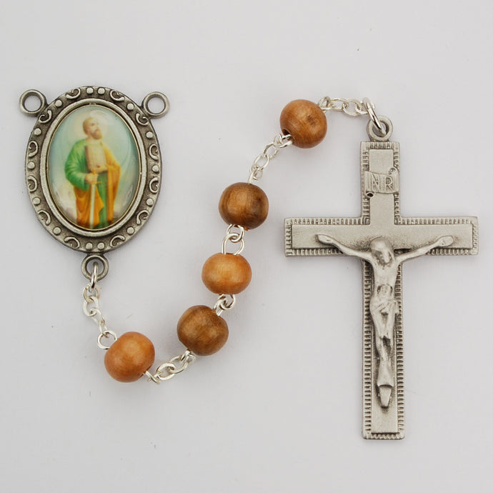 Olive Wood St Paul Rosary Boxed