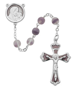 Mother & Child Lavender Rosary Boxed