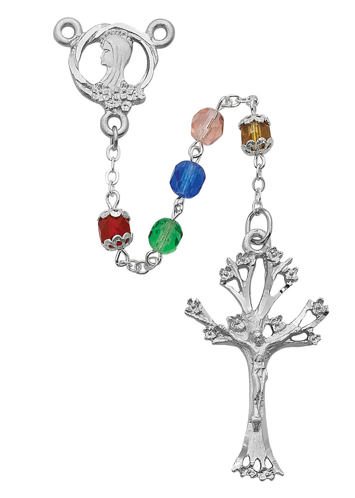 Tree of Life Birth Month Rosary Boxed.