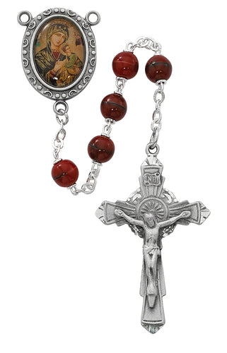 Red Our Lady of Perpetual Help Rosary Boxed
