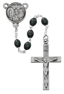 Black Wood Our Father Rosary Boxed