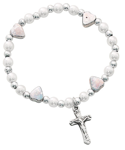 Crucifix Baby Stretch Bracelet Boxed