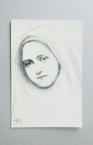 St Therese of Lisieux Postcard