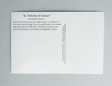 Load image into Gallery viewer, St Therese of Lisieux Pencil Sketch Set of Twelve Postcards