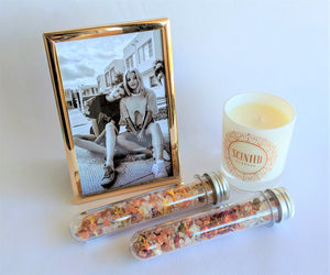 The Swirl Box Mother's day gift box with photo, candle and bath salts