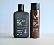 Load image into Gallery viewer, Set of scented Hair & Body Wash, and Body Splash for men, 150ml each by The Establishment