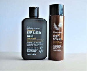 Set of scented Hair & Body Wash, and Body Splash for men, 150ml each by The Establishment