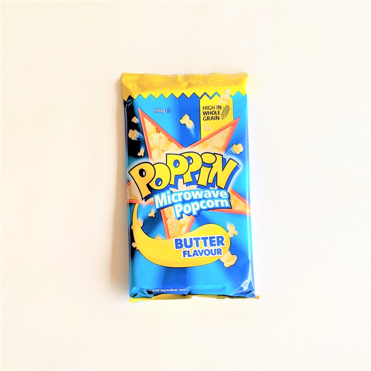 Poppin microwave popcorn, butter flavour, 100g