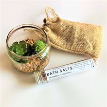 Load image into Gallery viewer, Swirl Box Lavender and Chamomile Bath Salts tube