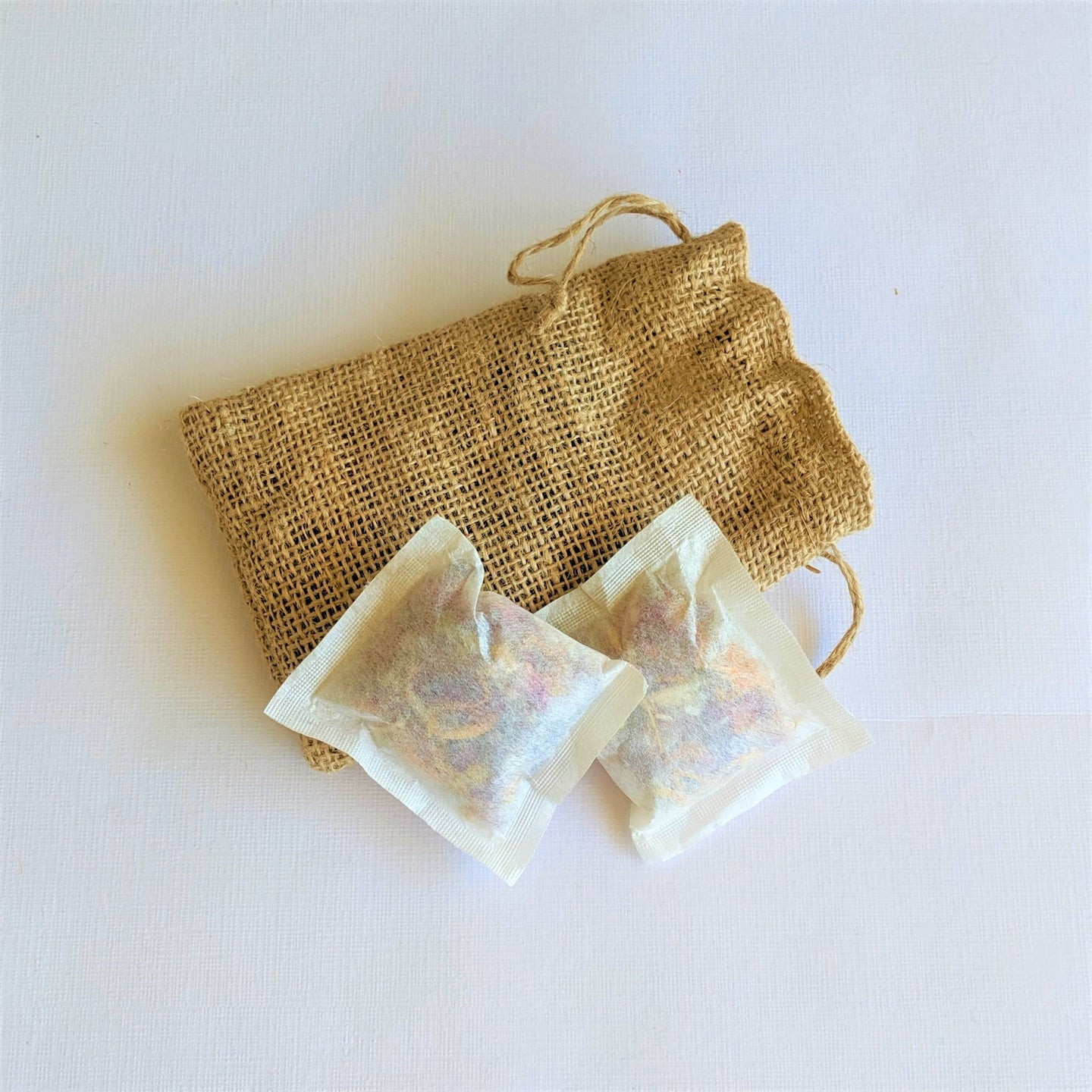 Swirl Box Bath Tea in hessian bag