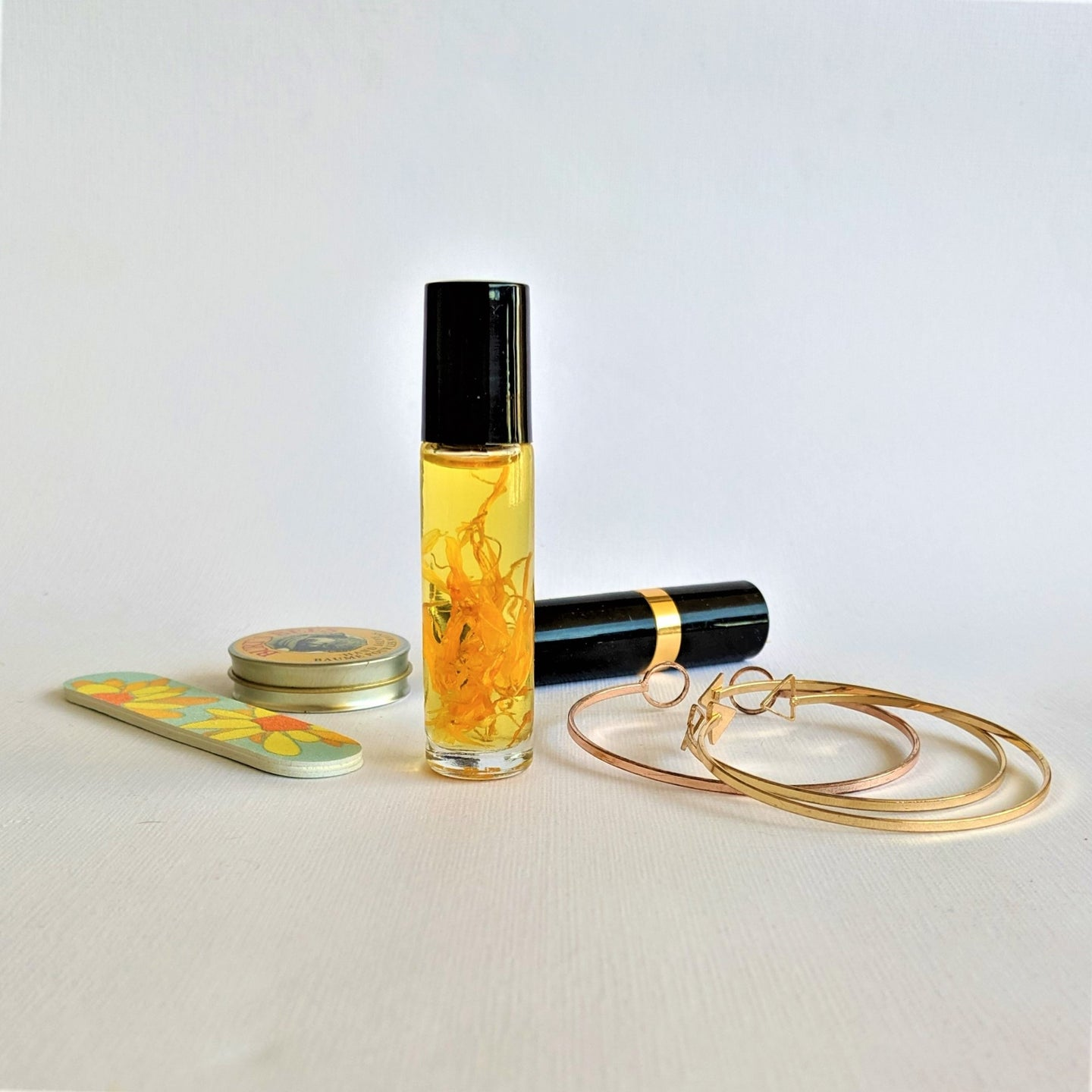 The Swirl Box Calendula Essential Oil Roller