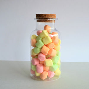 Swirl Box Fruit marshmallows in candy jar