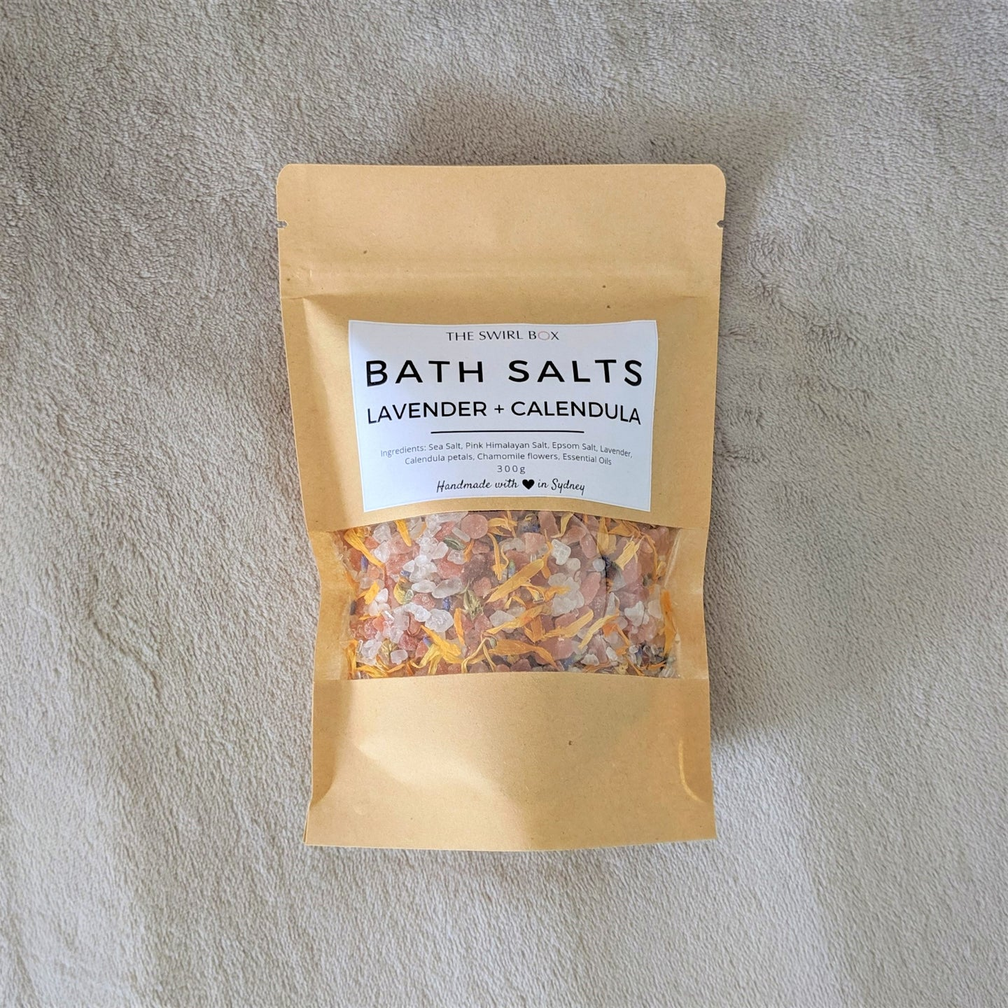 Swirl Box Lavender and Calendula Bath Salts