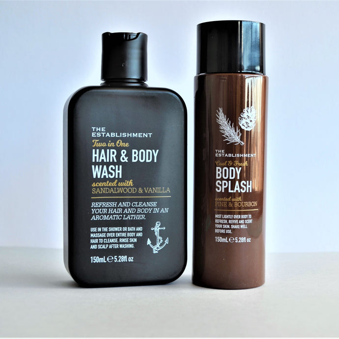 Swirl Box Men's Hair and Body Wash and Body Mist set