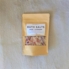Load image into Gallery viewer, The Swirl Box Rose Lavender Bath Salts
