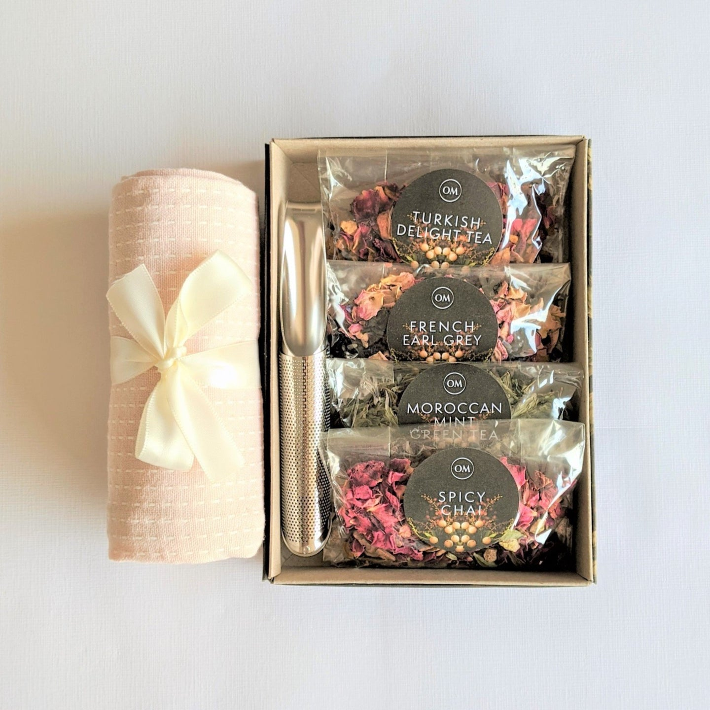 The Swirl Box Wanderlust Tea Gift Set with Tea towel