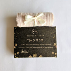 The Swirl Box Loose leaf Tea blend Gift Set with Tea towel