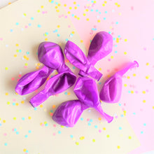 Load image into Gallery viewer, The Swirl Box neon balloons in crystal purple