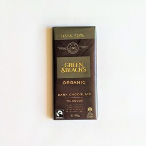 The Swirl Box Green & Black's Organic Dark Chocolate 70% cocoa