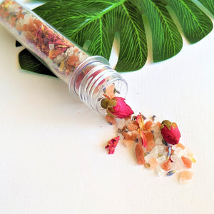 Swirl Box Rose Lavender Bath Salts Tube