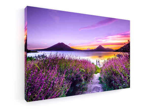 Leinwandbild - Premium - Fine Art - Lake Atitlán, Guatemala by Mark Harpur - King Of Shirts