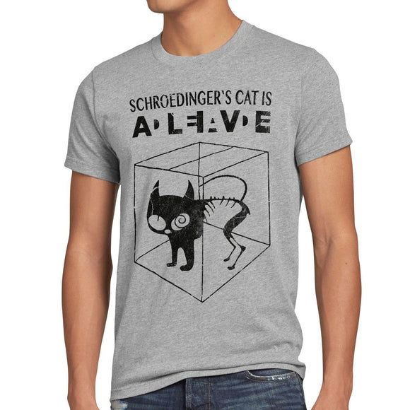 style3 Sheldon Schroedingers Katze Herren T-Shirt - King Of Shirts