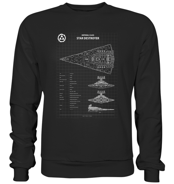 Imperial Class Star Destroyer - Blaupause - Basic Sweatshirt - King Of Shirts