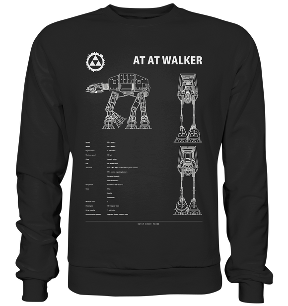 AT AT Walker - Blaupause - Basic Sweatshirt - King Of Shirts