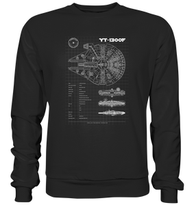 Millenium Falcon - Blaupause - Basic Sweatshirt - King Of Shirts